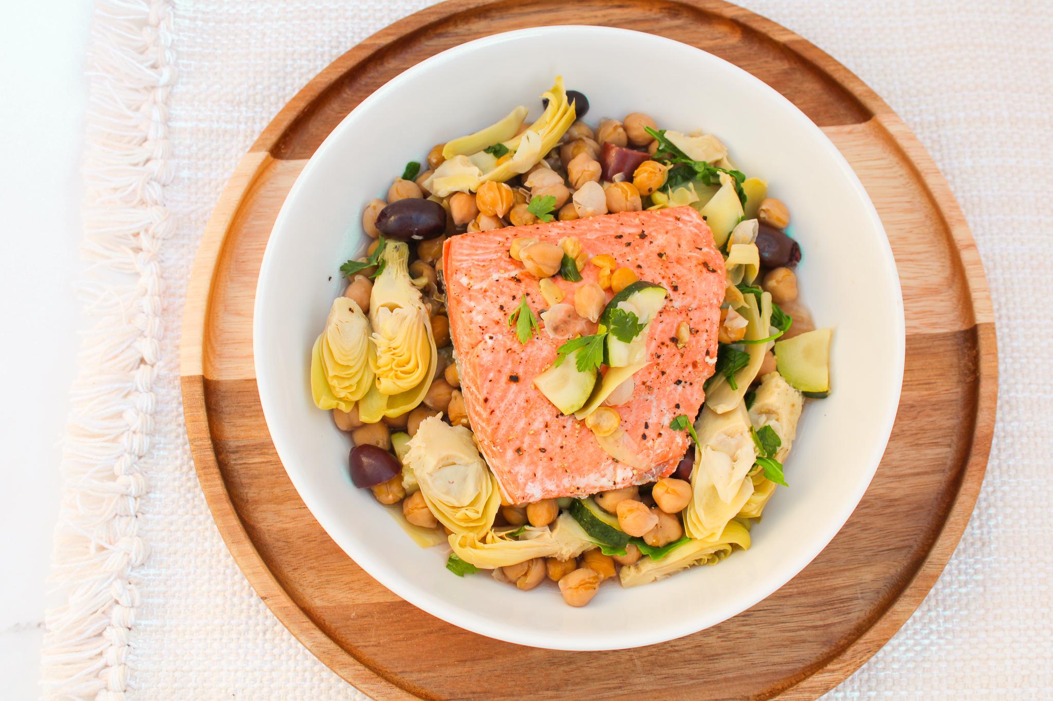 Mediterranean Salmon & Artichokes